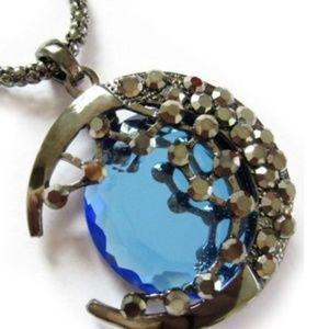 Exquisite Blue Moon Necklace
